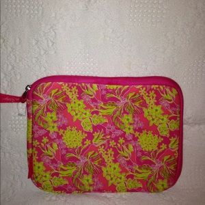 Lily Pulitzer pink tablet case slipcover